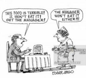 Cartoon Poor Restaurant Quality